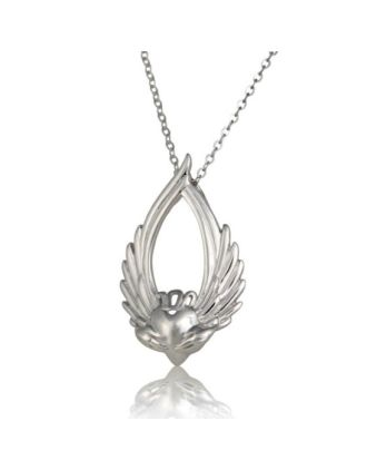 Winged Claddagh pendant