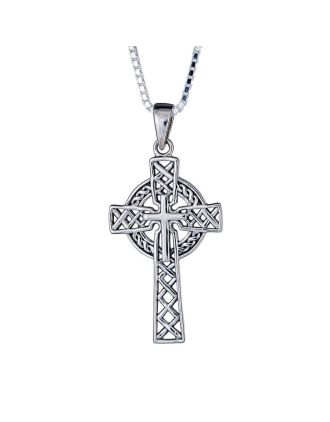 Oxidized Woven Celtic Cross