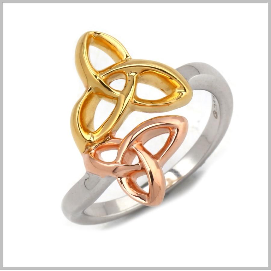 Celtic Trinity Knot Rings Celtic Shooting Star Ring