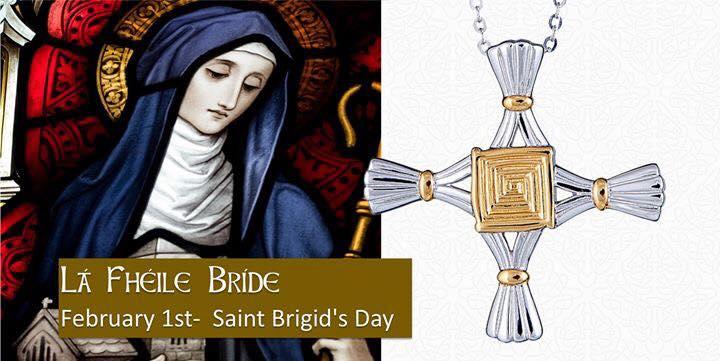 St Brigid's Cross necklace